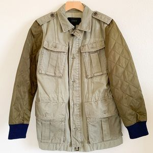 J. CREW Quilted Military Jacket